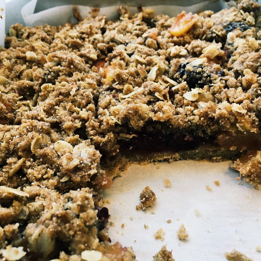 Nectarine and Blackberry Pie Bars