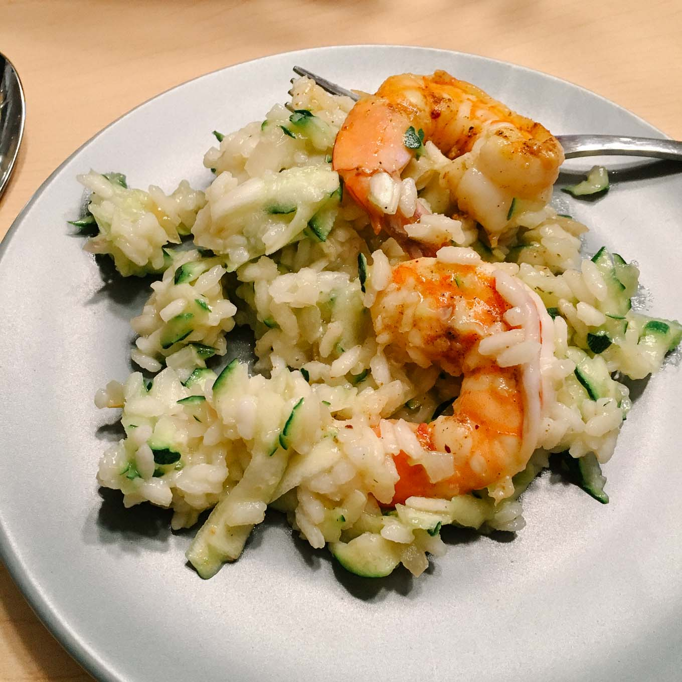 Risotto with Zucchini Prawns Preserved Lemon | the Tastiest Book